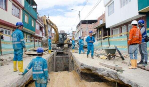 Obras del Acueducto de Bogotá.