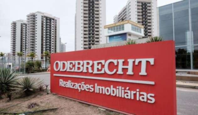 Una valla de Odebrecht en Río de Janeiro (Brasil)