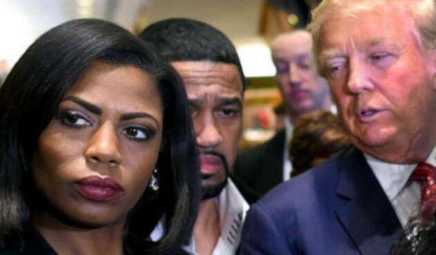 Omarosa Manigault Newman y Donald Trump.