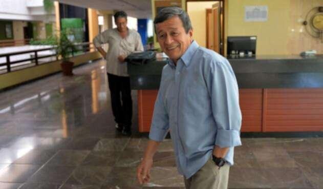 Pablo Beltrán, jefe negociador del ELN ante el Gobierno, en La Habana (Cuba)