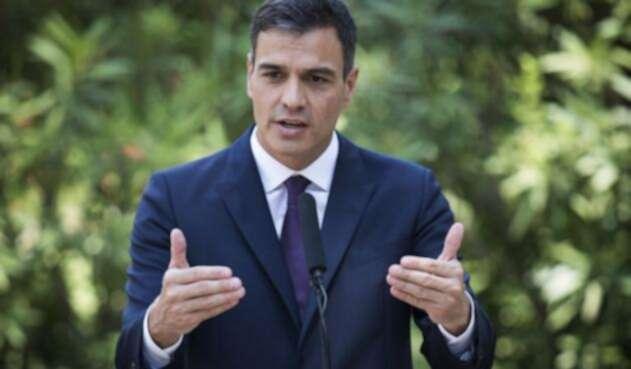El jefe del gobierno español, el socialista Pedro Sánchez
