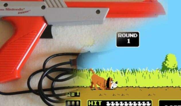 Pistola Zapper de Nintendo para jugar Duck Hunt
