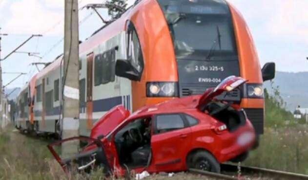 Accidente con tren