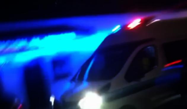 Van de la Policía en el momento de la recaptura de los proceso por el caso del Andino