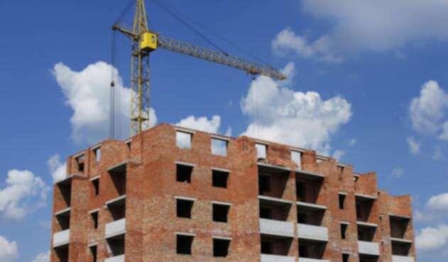 Un proyecto de vivienda en construcción