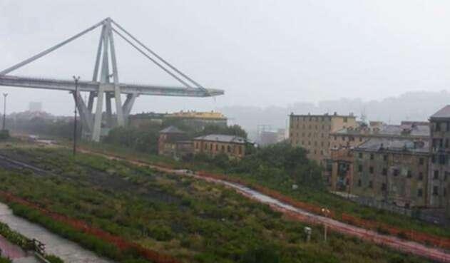 Viaducto Italia derrumbado