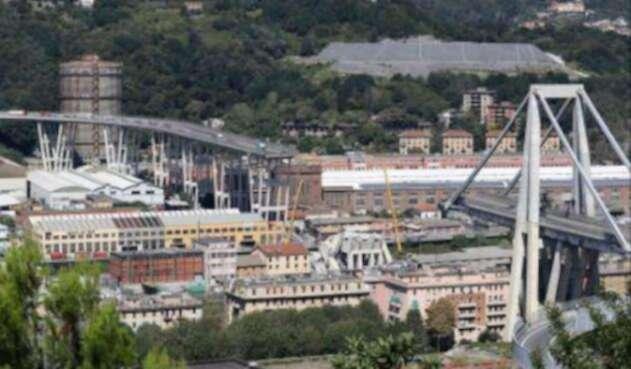 Génova Italia puente caído