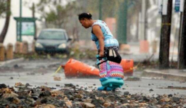 Huracán María a su paso por Puerto Rico.