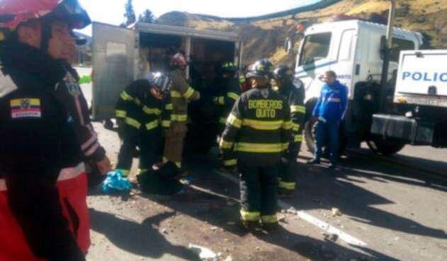 Las imágenes luego del accidente en Quito