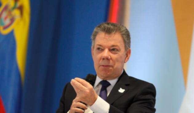 El presidente Juan Manuel Santos en Bogotá
