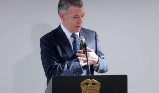 Juan Manuel Santos, presidente saliente de Colombia.