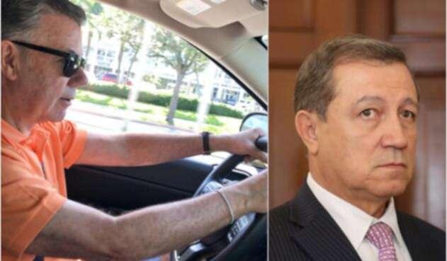 El expresidente Juan Manuel Santos en Miami y el senador Ernesto Macías en Bogotá