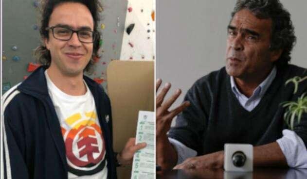 Sergio Fajardo y su hijo Alejandro