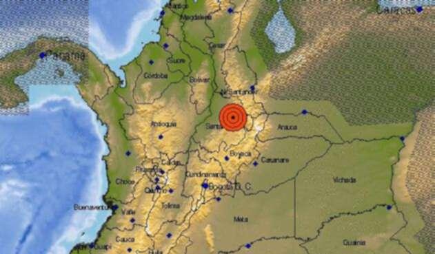 El epicentro del sismo de este 7 de agosto de 2018