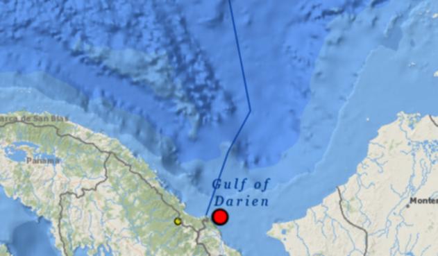 Sismo en el Golfo del Darién