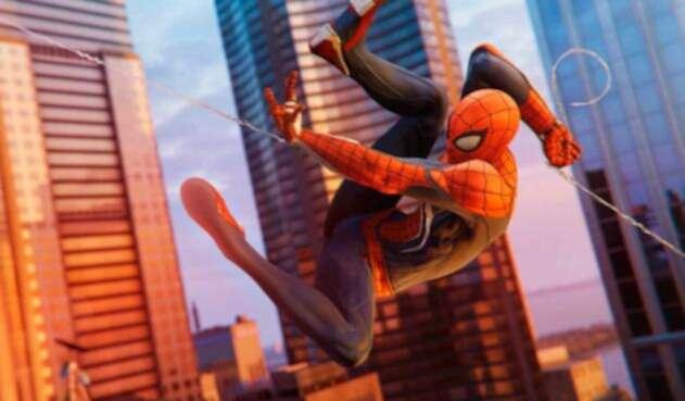 Spiderman en su videojuego para playstation 4