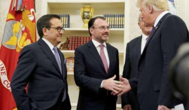Trump y negociadores México
