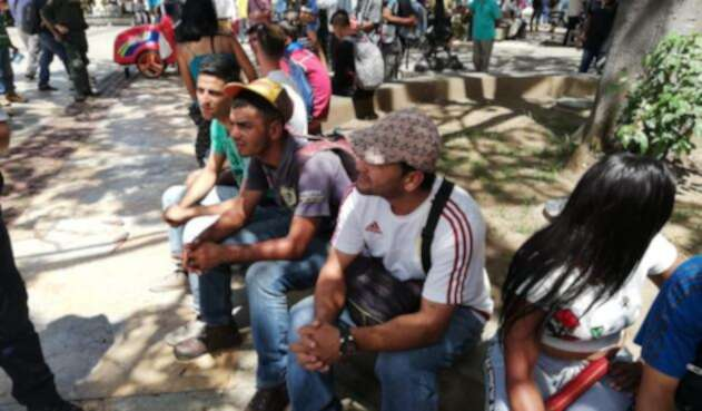 Ciudadanos venezolanos en Bucaramanga.