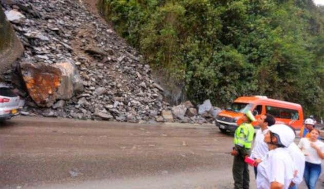 La vía que de Bogotá conduce a Villavicencio