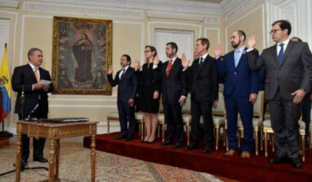 Posesión de secretarios en Palacio