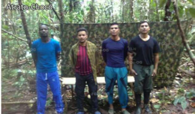 Pruebas de vida de secuestrados por el ELN en Chocó