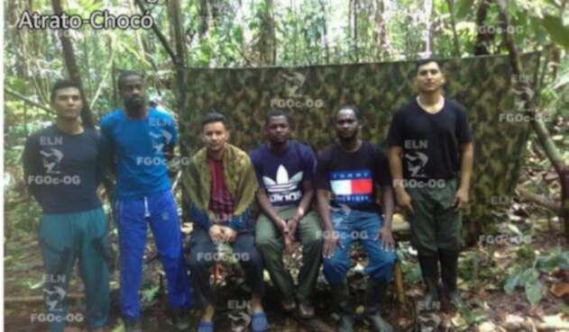 Prueba de supervivencia de los seis secuestrados en Chocó.