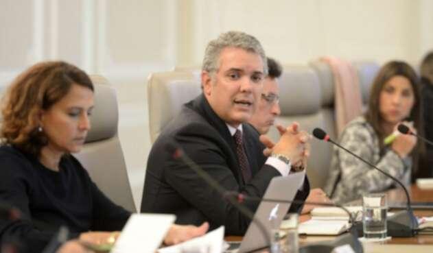 Presidente Iván Duque en Consejo de Ministros
