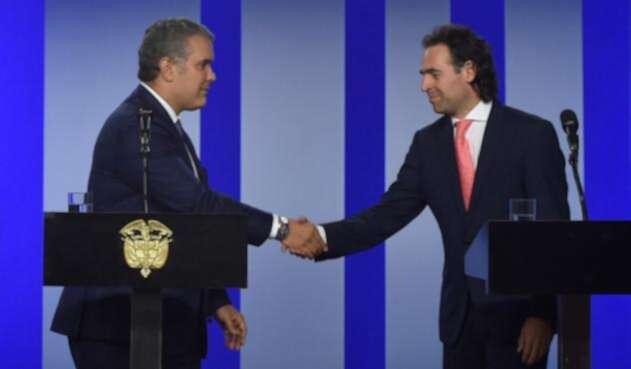 Iván Duque y Federico Guriérrez