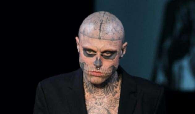 Rick Genest, conocido como  'Zombie Boy', saltó a la fama en 2010.