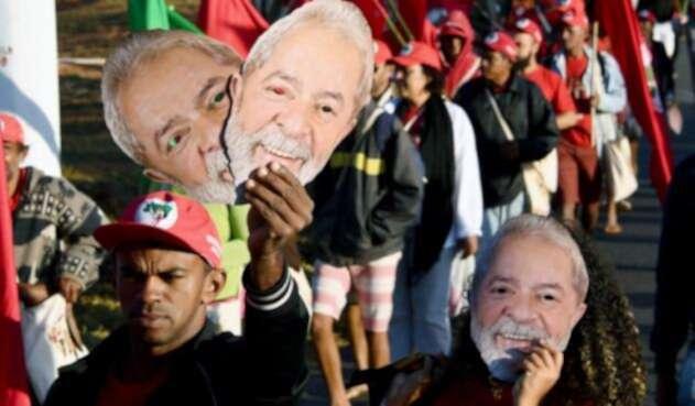 Manifestación Lula da Silva