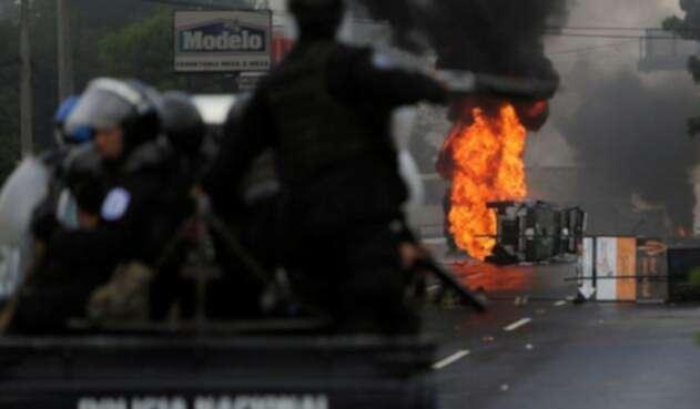 Las protestas antigubernamentales se iniciaron el 18 de abril contra una fallida reforma a la seguridad social en Nicaragua.