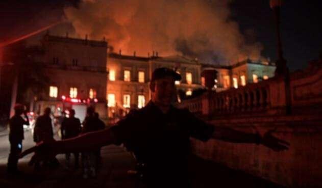 Incendio en el Museo Nacional de Río