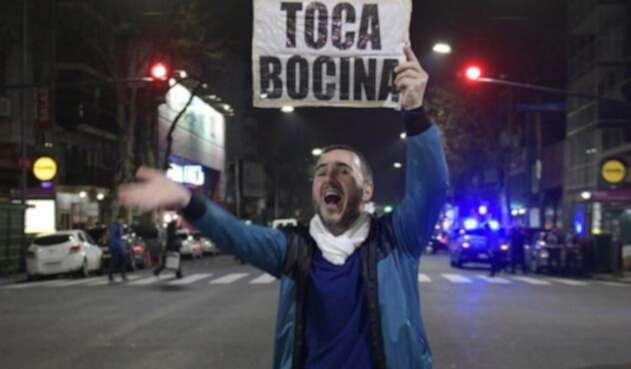 La protesta se replicó en varias esquinas deBuenos Aires.