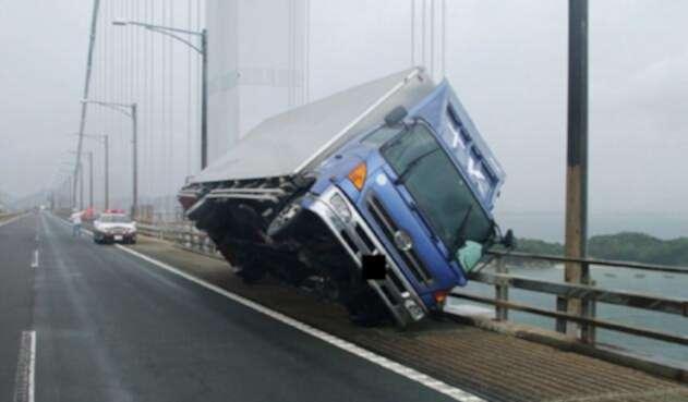 Paso del tifón Jebi por Japón.