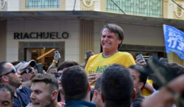 El ultraderechista Jair Bolsonaro, líder en los sondeos para las elecciones presidenciales de octubre en Brasil.
