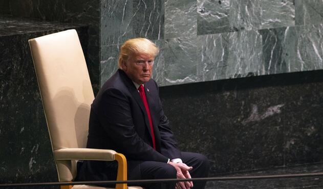 Presidente de EE.UU. Donald Trump, en la Asamblea General de la ONU.