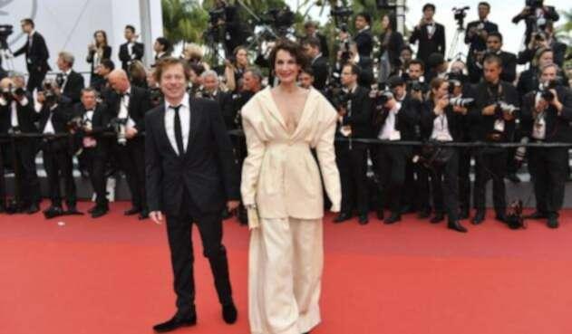 el director Mathieu Amalric en Cannes por su película Barbara