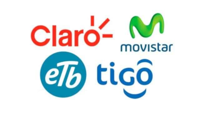 Claro, Movistar, Tigo y ETB