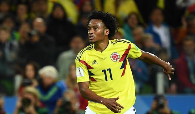 Juan Guillermo Cuadrado, volante de la Selección Colombia