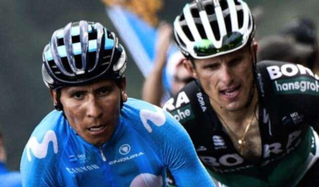Nairo Quintana, líder del Movistar en la Vuelta a España