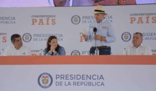 Presidente Iván Duque en el Quindío