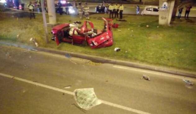 Accidente Autopoista Norte