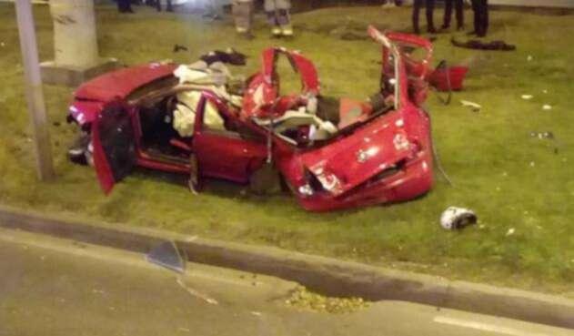 Accidente en carro en Bogotá