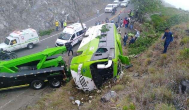 Siniestro vial en el Occidente de Antioquia