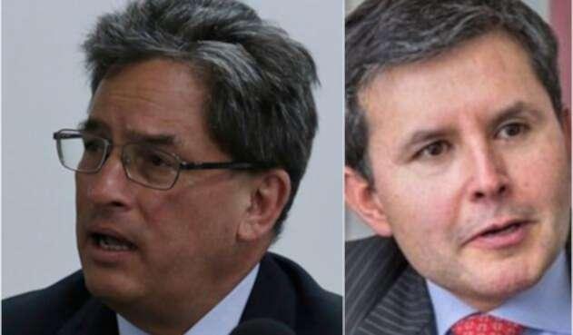 Alberto Carrasquilla y José Roberto Acosta, minhacienda y analista, respectivamente