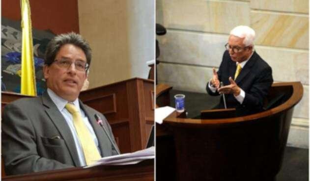 Alberto Carrasquilla y Jorge Robledo, ministro de Hacienda y senador, respectivamente