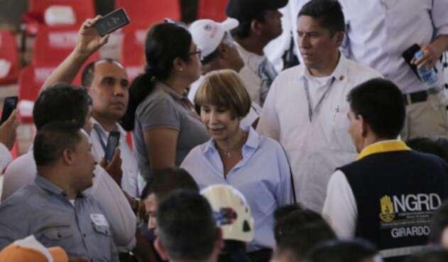 Alicia Arango, ministra de Trabajo, durante un evento en Girardot
