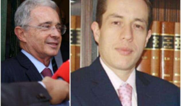 Álvaro Uribe y Andrés Barreto