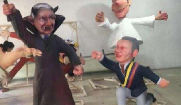 Las imágenes de Duque y Uribe que iban a ser exhibidas en la Feria de Bucaramanga