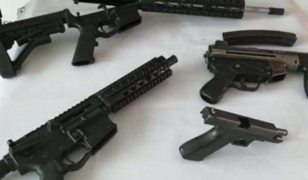 Armas encontradas en un jardín infantil en Bogotá
